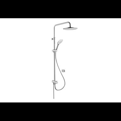 Shine Round Shower Column,  Chrome
