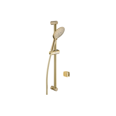 Shine Round 3F Shower Set,  Gold