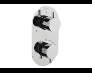 A47024 - Aquatech Ankastre Termostatık Duş Bataryası  (180° Kumanda - 1+3 Yollu Yönlendirici)