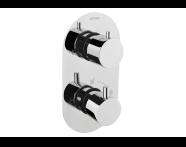 A47025 - Aquatech Ankastre Termostatık Duş Bataryası  (180° Kumanda - Klasik Yönlendirici)