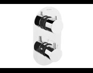 A47026EXP - AquaHeat R2 Built-in Shower Mixer, 1-Way Diverter, Chrome