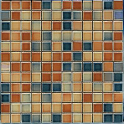 2.5x2.5 Colorline Mosaic Tobacco Glossy
