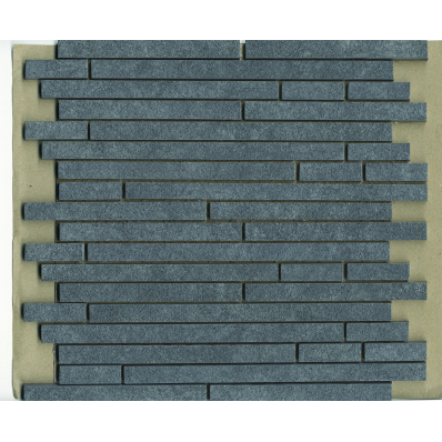 1.5x15 Pompei Cut Border Anthracite Matt