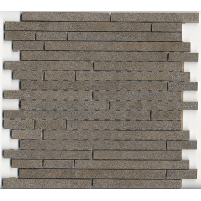 1.5x15 Pompei Cut Border Mocha Matt