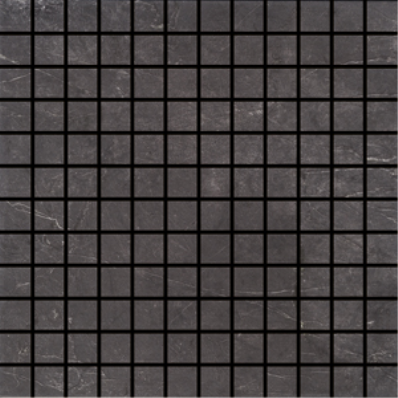 3x3 Marmi Tile Negro Marquina Semi Glossy