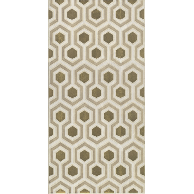 30x60 Travertino Decor 2 Gold Matt