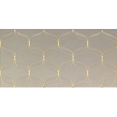 30x60 Ethereal Decor Gold - Light Beige Glossy