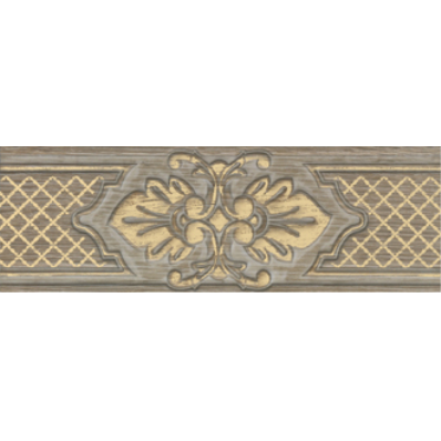 11x33 Provence Border 2 Grej -Gold Matt