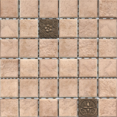 5x5 Rock Tile Tobacco Matt