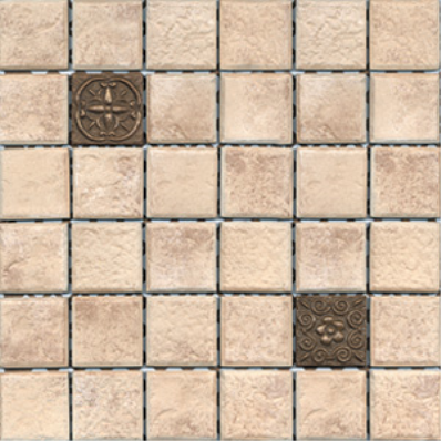 5x5 Rock Tile Gold Matt