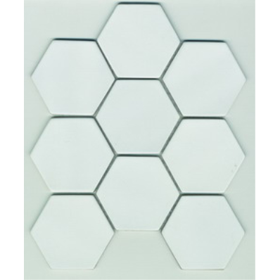 30x30 Shape Mosaic Ral 9016 Matt