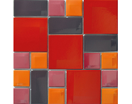 K5400918 - 5x5 Day-to-Day Mozaik Kırmızı Parlak