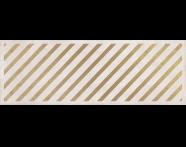 K943549R - 25x70 Clayworx Çizgi Altın Dekor Beyaz Mat