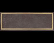 K943556R - 25x70 Clayworx Çerçeve Altın Dekor Antrasit Mat
