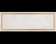 K943558R - 25x70 Clayworx Çerçeve Altın Dekor Beyaz Mat