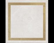 K943562R - 25X25 Clayworx Çerçeve Altın Kesme Dekor Beyaz Mat
