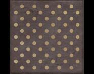 K943565R - 25X25 Clayworx Nokta Altın Kesme Dekor Antrasit Mat