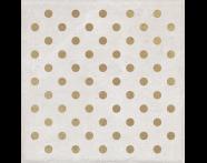K943567R - 25X25 Clayworx Nokta Altın Kesme Dekor Beyaz Mat