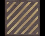 K943569R - 25X25 Clayworx Çizgi Altın Kesme Dekor Antrasit Mat