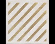 K943571R - 25X25 Clayworx Çizgi Altın Kesme Dekor Beyaz Mat