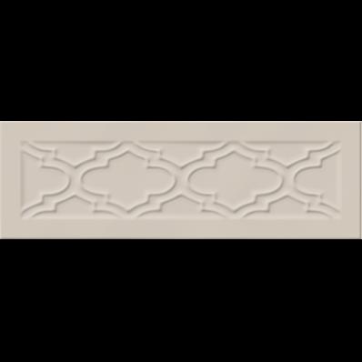 10X30 Homemade Damask Çerçeve Dekor Kum Beji Parlak