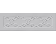 K943600 - 10X30 Homemade Damask Çerçeve Decor GRİ Glossy