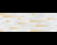 K943712R - 33X100 Upbeat Rölyef Altın Dekor Beyaz Mat