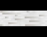 K943713R - 33X100 Upbeat Rölyef Platin Dekor Beyaz Mat