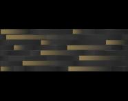 K943714R - 33X100 Upbeat Rölyef Altın Dekor Siyah Mat