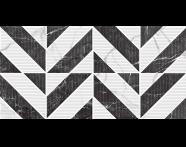 K944011R - 40X80 Black & White Star Dama Dekor Beyaz Parlak