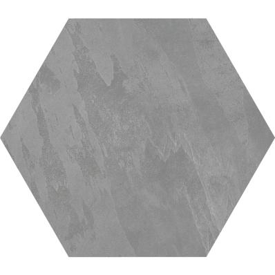 60X60 Tech-Slate Altıgen Dekor Koyu Gri