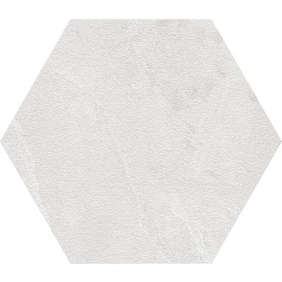 60X60 Tech-Slate Altıgen Random Dekor Beyaz