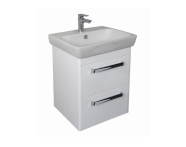 UML60DE2D - M-line 60 cm Washbasin Unit, 2 Drawer, Dark Elm