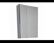 UML60DEMC - M-line 60 cm Mirror, Cabinet, Dark Elm