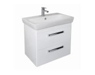 UML80GG2D - M-line 80 cm Washbasin Unit, 2 Drawer, Gloss Grey