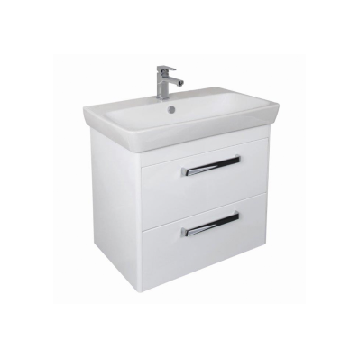 M-line 80 cm Washbasin Unit, 2 Drawer, Gloss Grey