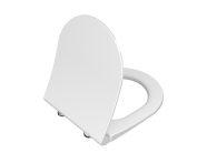 110-003R019 - Universal Slim WC Seat Model 2 - Round Form  (Duroplast, Soft-Closıng, Detachable Metal Hinge, Top Fıxıng, Quıck Release)