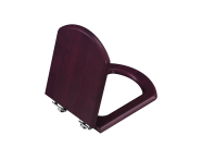 125-013-001 - Wooden Seat, Soft Close, Detachable Metal Hinge, Top Fixing