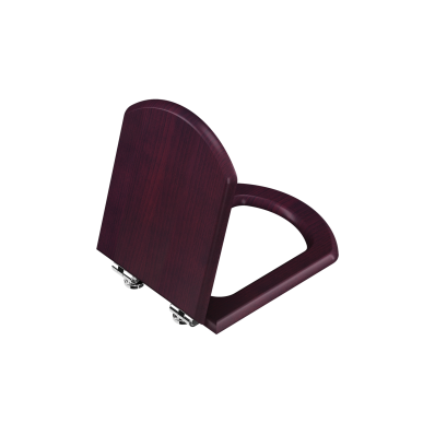 Wooden Seat, Soft Close, Detachable Metal Hinge, Top Fixing