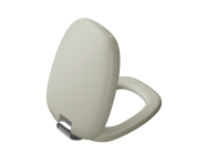 """126-020-009 - """"Plural WC Seat Duroplast, Soft Closing, Detachable metal hinge, top fixing, quick release, taupe"""""""