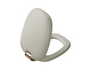 """126-020-029 - """"Plural WC Seat Duroplast, Soft Closing, Detachable copper-metal hinge, top fixing, quick release, taupe"""""""