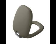 "126-050-009 - ""Plural WC Seat Duroplast, Soft Closing, Detachable metal hinge, top fixing, quick release, mink"""