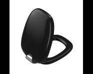 "126-083-009 - ""Plural WC Seat Duroplast, Soft Closing, Detachable metal hinge, top fixing, quick release, matte black"""