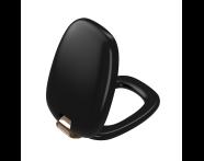 "126-083-029 - ""Plural WC Seat Duroplast, Soft Closing, Detachable copper- metal hinge, top fixing, quick release, matte black"""