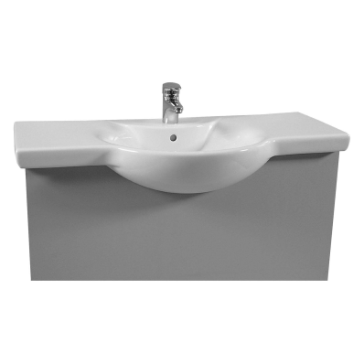 Arkitekt Vanity Basin, 86cm with Middle Tap Hole, with Side Holes