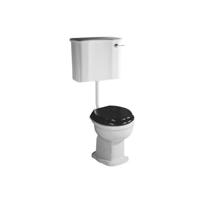Aria  Single WC Pan with Bottom Outlet without Bidet Pipe