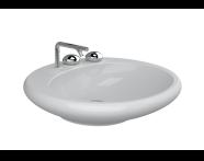 4279B470-0871 - Istanbul Counter-top Washbasin, 60 cm (Flat) Black