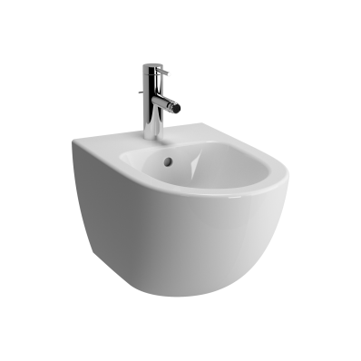 Sento Wall-Hung Bidet with Tap Hole, with Side Holes