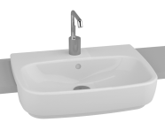 4390B003H0001 - Shift Recessed Basin, 55 cm, with Middle Tap Hole, with Side Holes