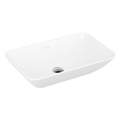 Geo Rectangular Bowl, 60 cm without Tap Hole, without Overflow Hole